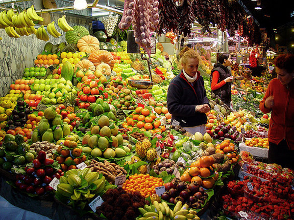 fruit in a Spanish market