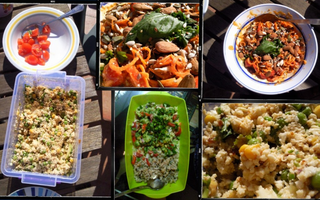 A collection of raw vegan dishes we've enjoyed recently