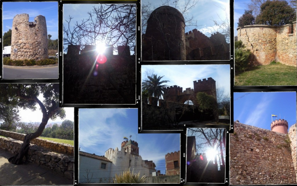 A collage of images taken at Castell de Castelldefels, Catalunya