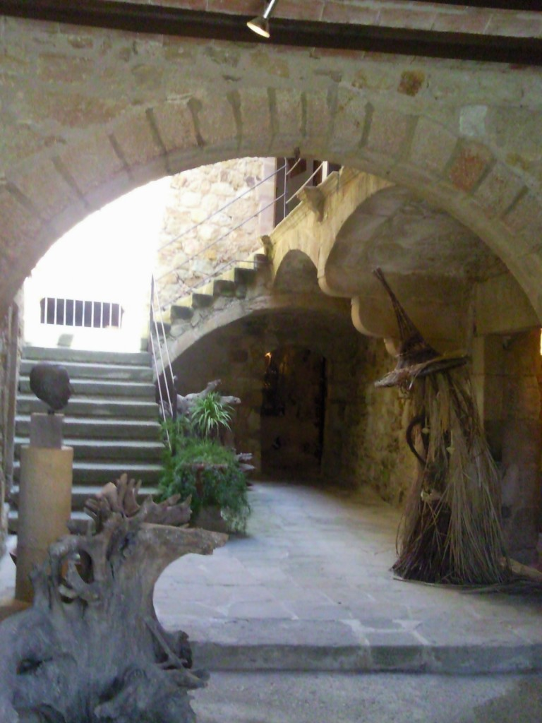 The entrance to the gallery in Pals, Catalonia
