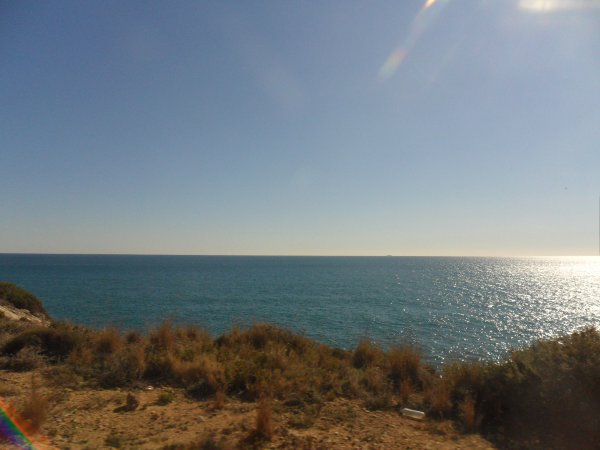 The Mediterraenan Sea from the Renfe train