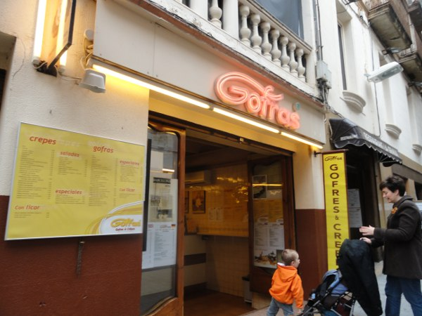 Gofras creperie in Sitges, Catalonia