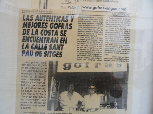 Gofras review, Sitges