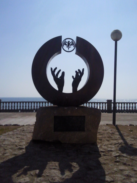 Bacardi Monument on the seafront at SItges