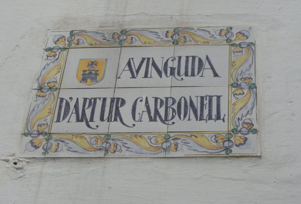 Street signs in Sitges, Catalonia
