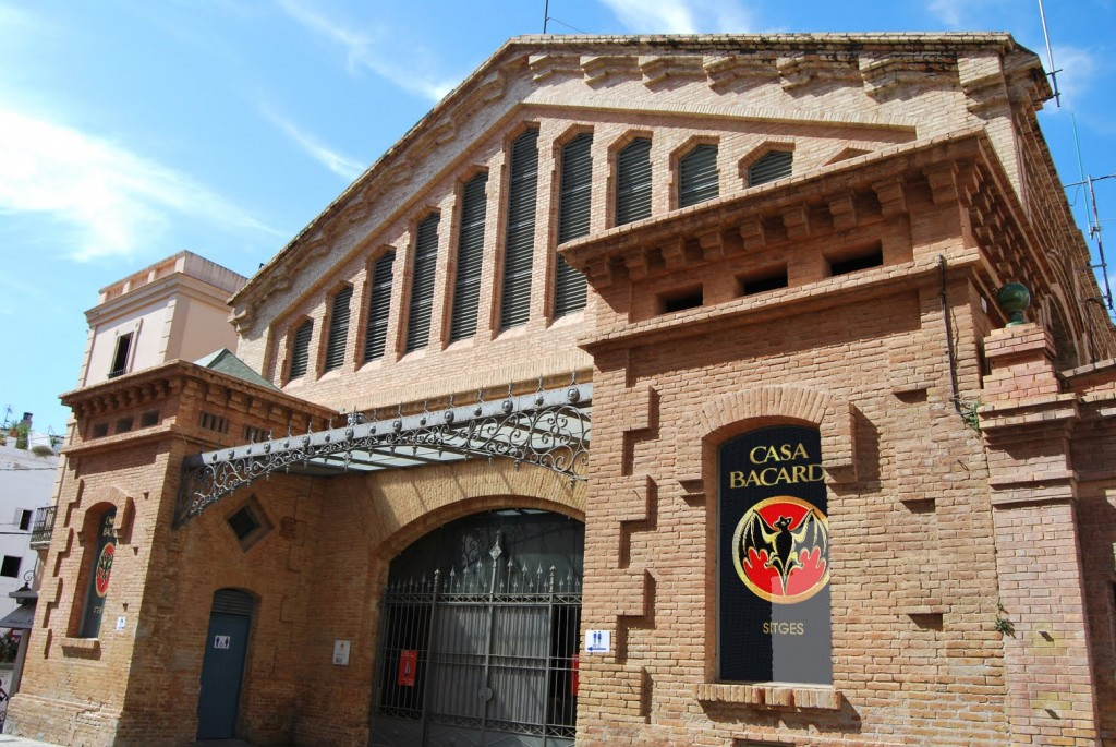 Casa Bacardi in the old town at Sitges, Catalunya