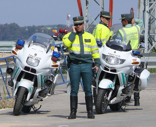 Guardia Civil Trafico coming to a town near you to rob your money. Foreign drivers beware.