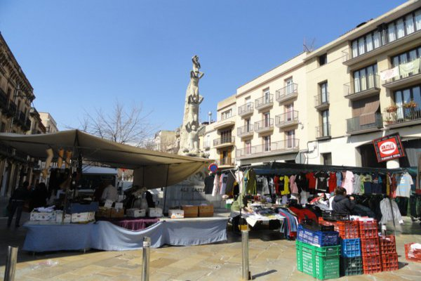 Market stall in spain
