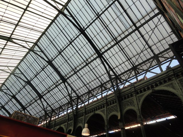 Inside roof of the central market in Malaga