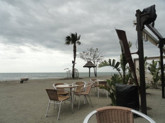 Stormy day on the Costa Del Sol