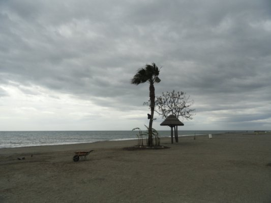 The English weather takes a holiday in Torre Del Mar