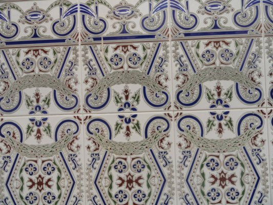 Cool Andalusian tiles in Torre del Mar, near Malaga