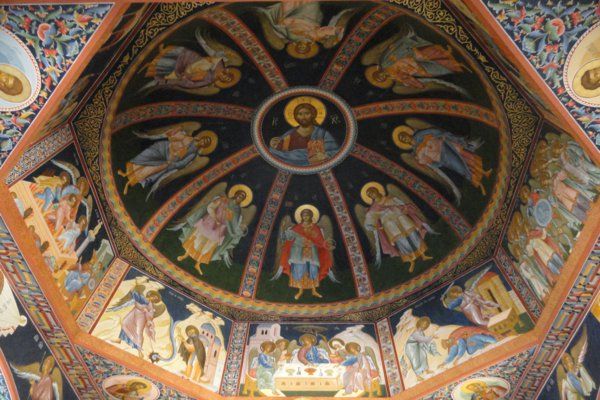 Ceiling detail of the Russian church in Altea