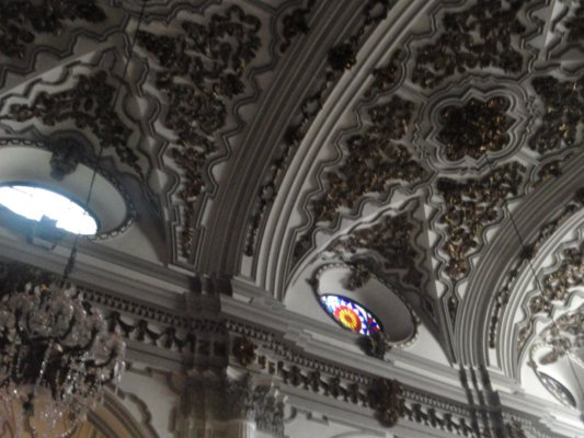 ceiling of the church of the Conception in Malaga