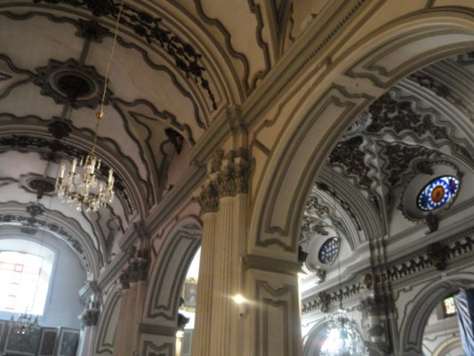 Eaves of Church of the Concepcion in Malaga