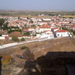 Mourão, Alentejo, Portugal, as seen from a defense tower at the castle.
