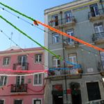 Lisbon in pictures - colourful streamers to mark a celebration