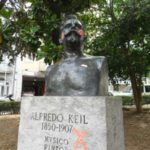 Lisbon in pictures - Alfredo Keil bust with charming graffiti