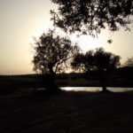 Sunset over the lakes, Alentejo, Portugal.