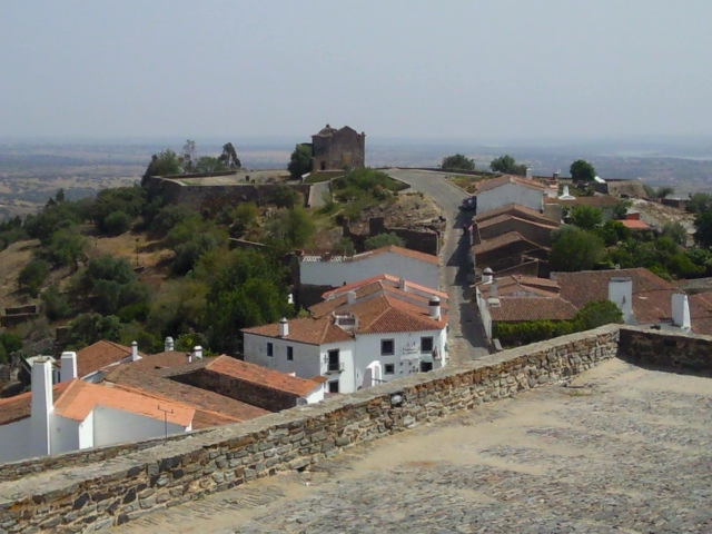 An old house outside the walls in the north of Monsaraz, Alentejo, Portugal.