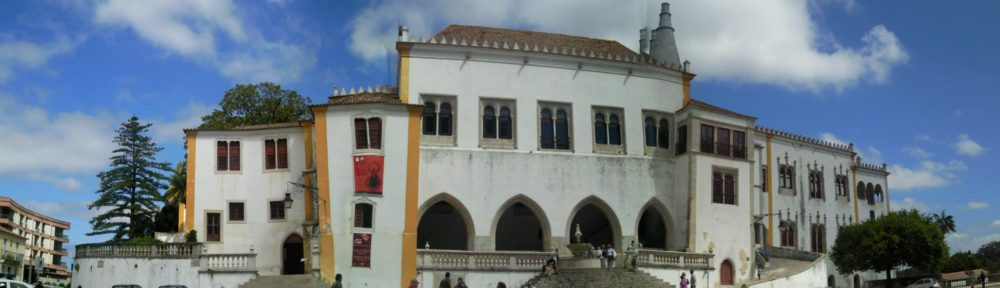 A panoramic view of the National Palace of Sintra, Portugal