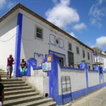 The white walled houses of Obidos, Portugal
