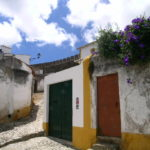 Blue skies compliment the stunning old town of Obidos