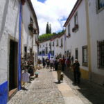 Rua Direita in Obidos is narrow and crowded but full of lovely trinkets to buy and shops to mooch
