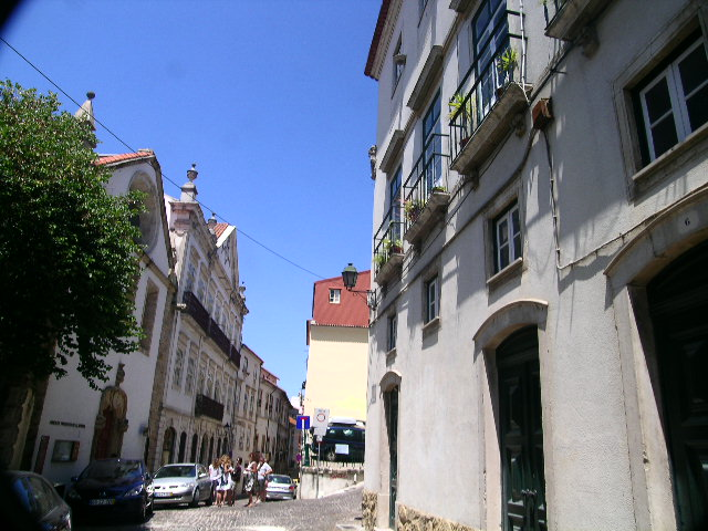 The rising streets of Old Coimbra