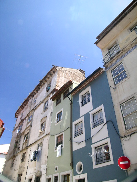 The beautifully tiled houses of Coimbra