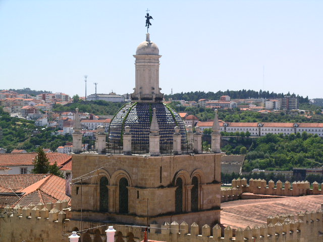 Across the rooftops and the old cathedral in Coimbra