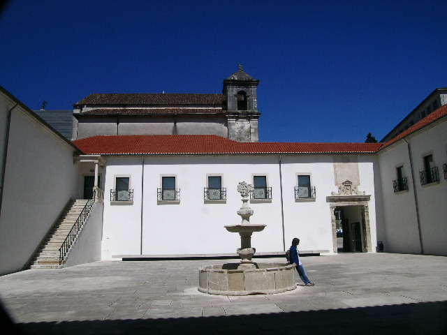 The back of the chapel at Coimbra University