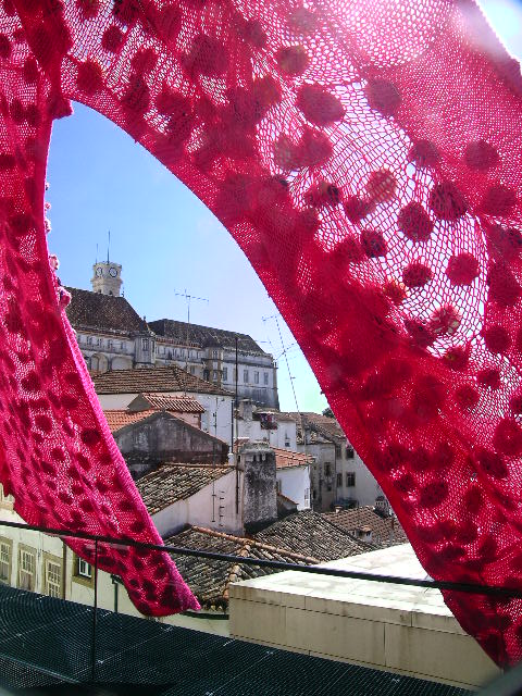 The weird and perhaps not-so-wonderful woolly arch at the University of Coimbra